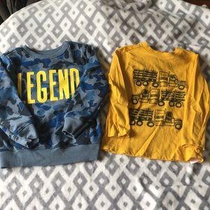 •bundle• Boys 4t long sleeve sweatshirt and shirt